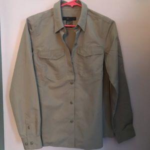 5.11 Tactical Small Tan Khaki Button down Shirt